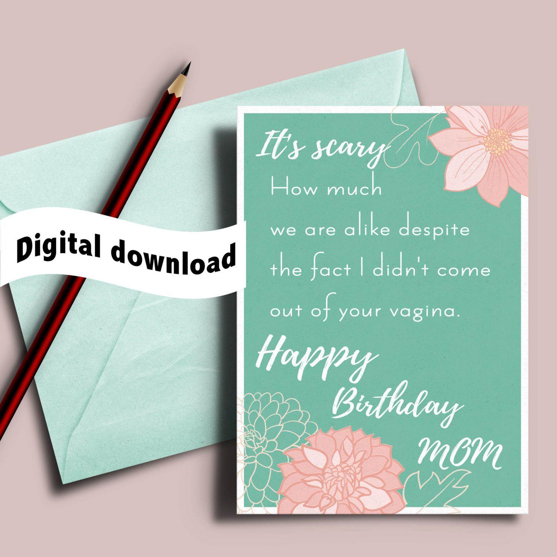 Printable funny birthday card for stepmom adoptive mom
