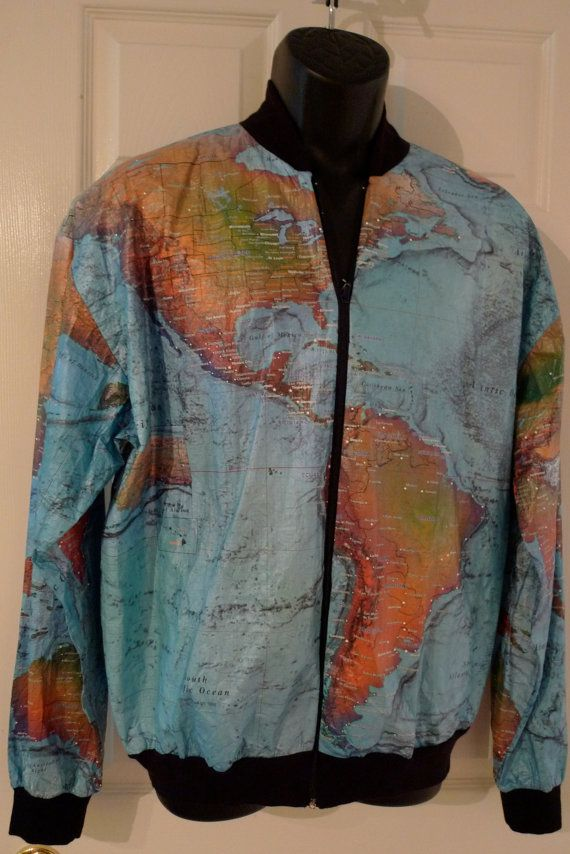 Reserved paper jacket world map 70s black rib knit collar cuffs plot some co ords in this boss world map print paper jacket gumiabroncs Gallery
