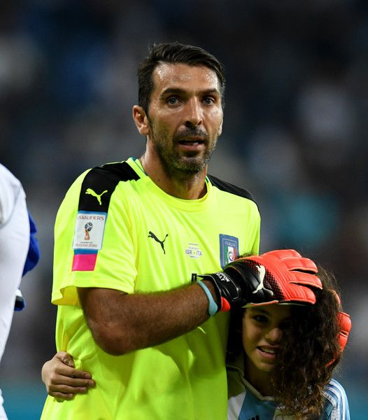 Gianluigi Buffon of Italy celebrates at the end of the FIFA 2018 World Cup…