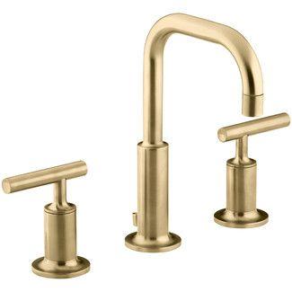 573 Brushed Brass Kohler Purist Widespread Bathroom Sink