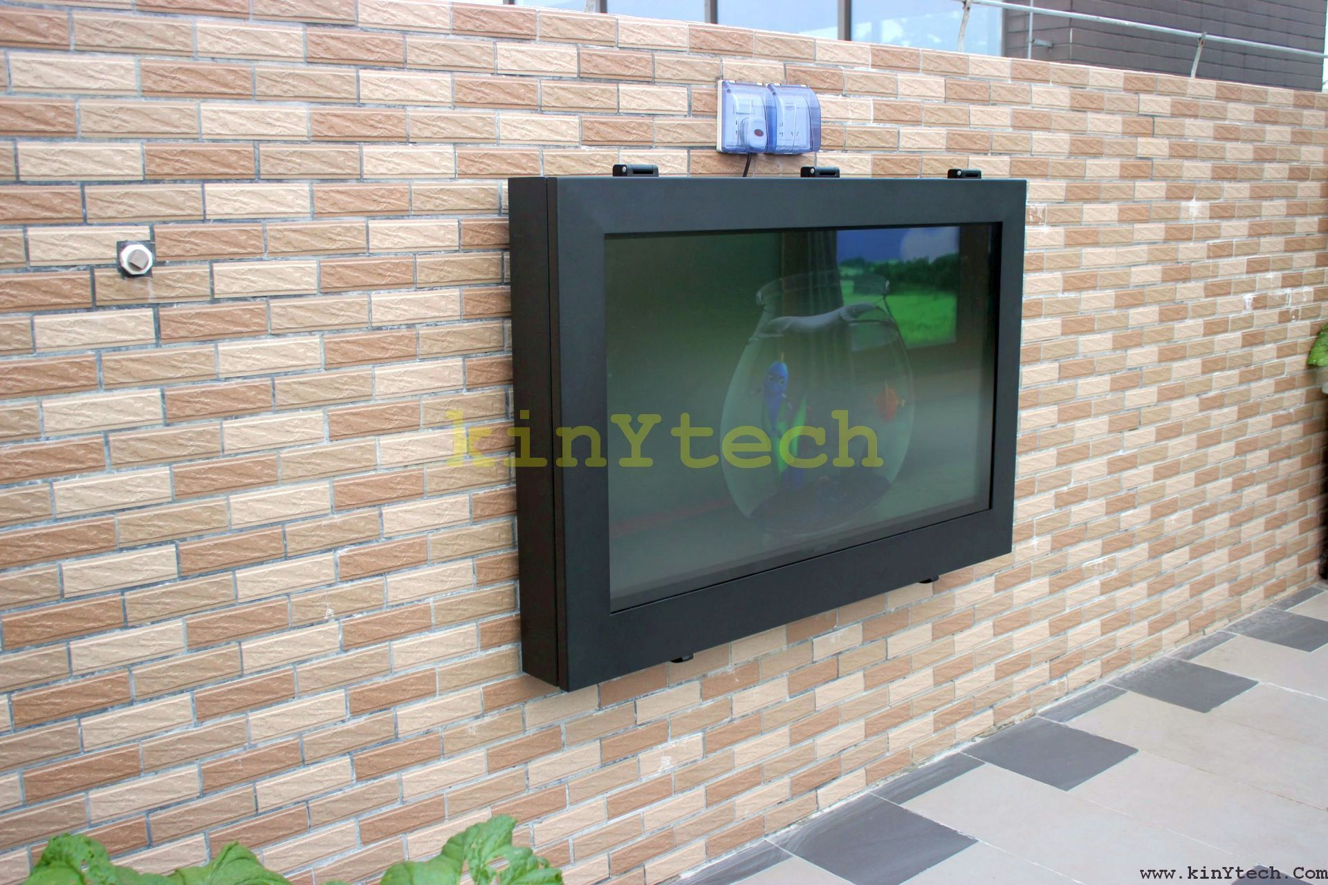 weatherproof TV enclosure From Kinytech China outdoor TV cabinet
