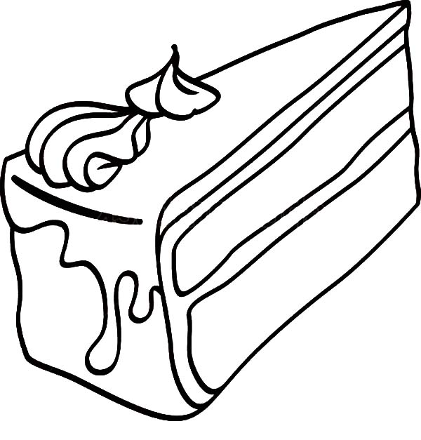 Black Forest Cake Slice Coloring Pages Best Place To Color Di 2020