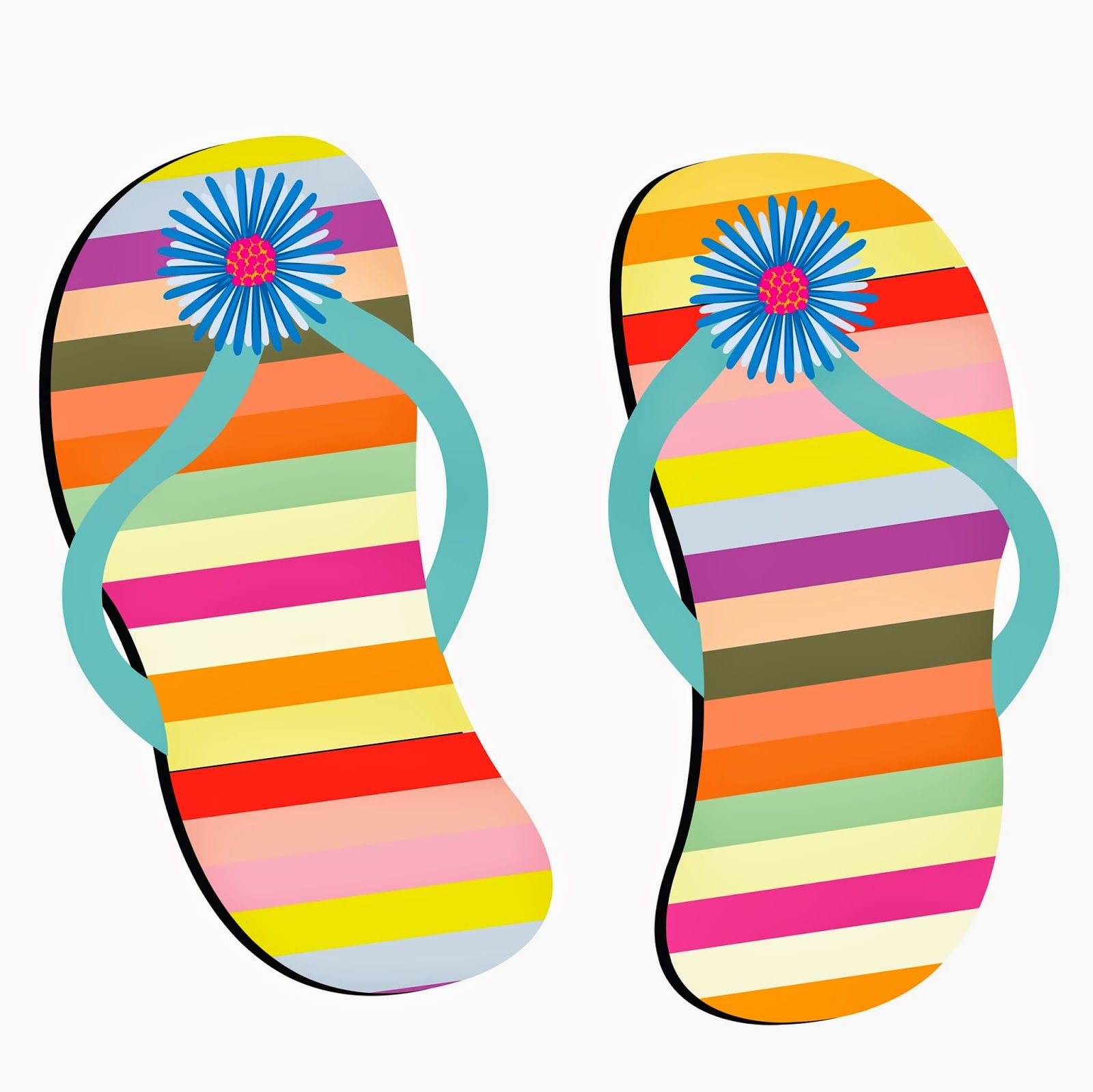 Illustration of beach shoes against white background vector art, clipart  and stock vectors.