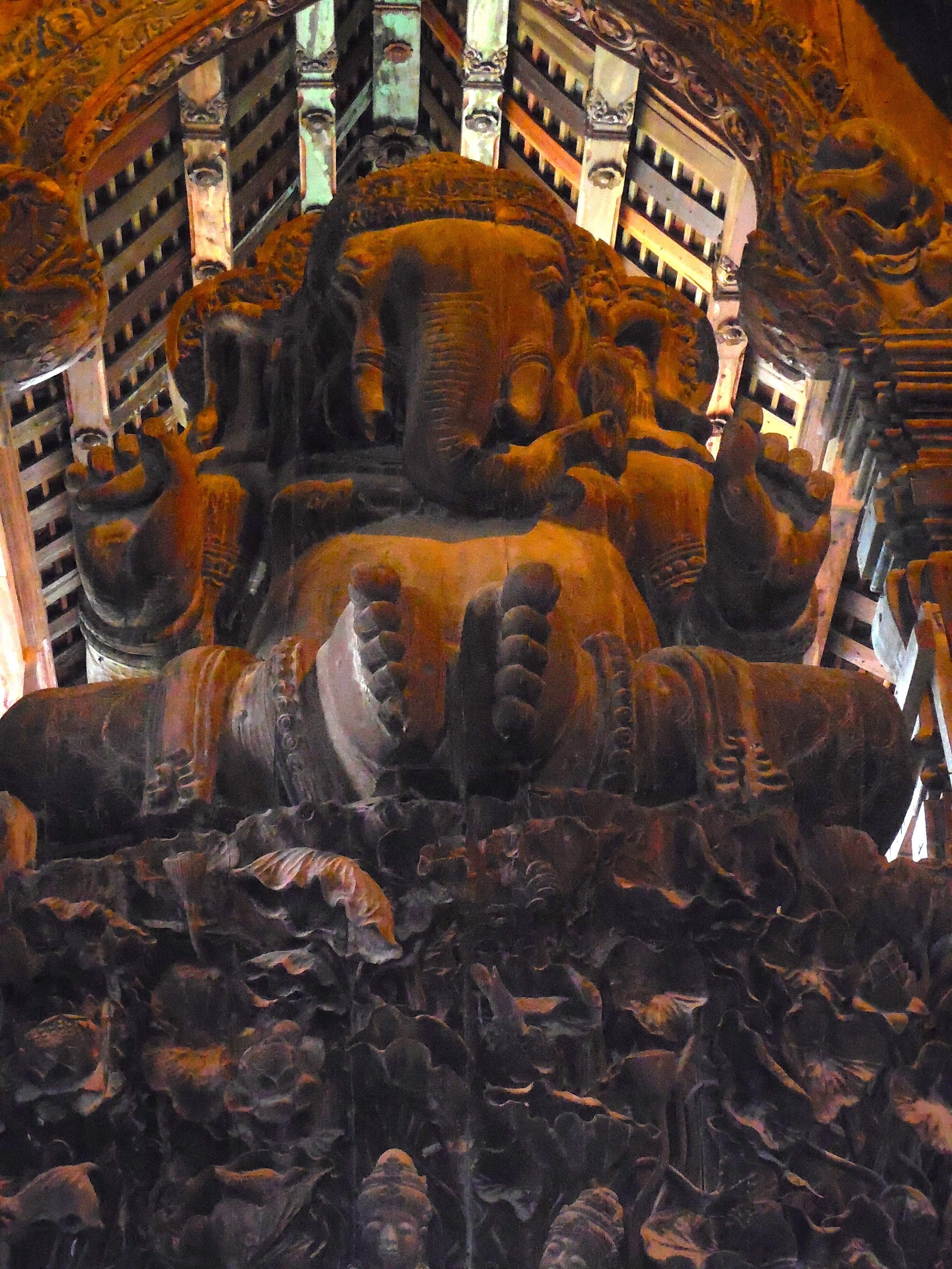 Ganesh wood sculpture inside Sanctuary of Truth Temple, Pattaya ...