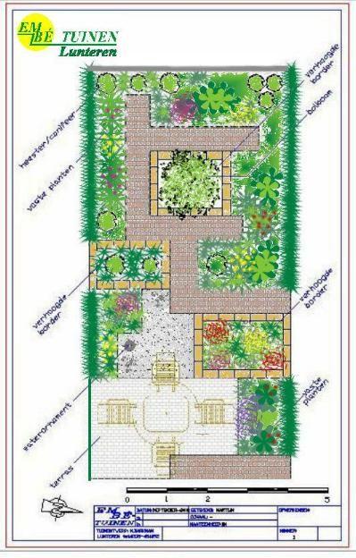 Schaal garden pinterest eetbare tuin tuin en for Plattegrond tuin maken