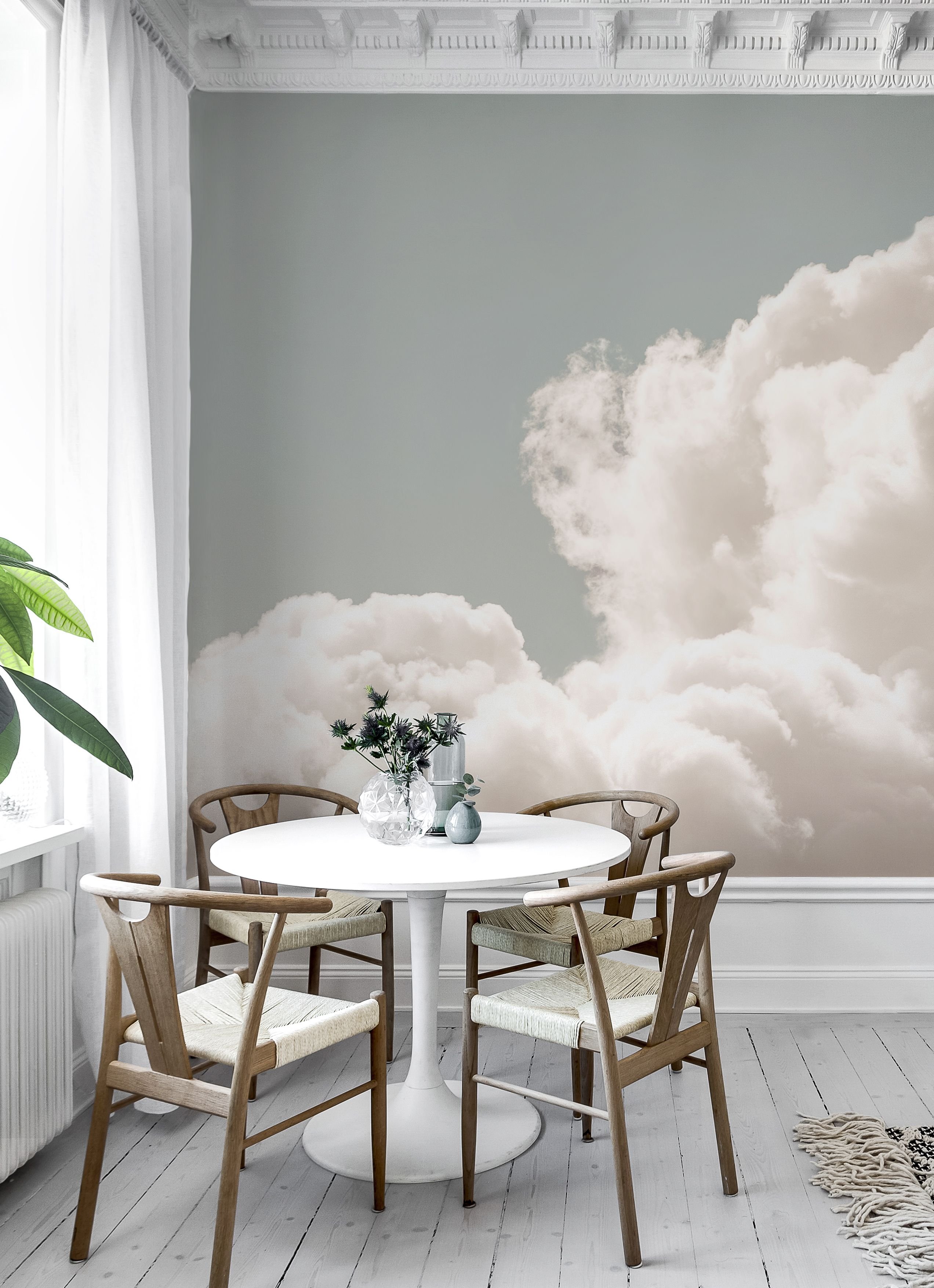 Clouds Wall Mural Wallpaper Living Room Wallpaper D