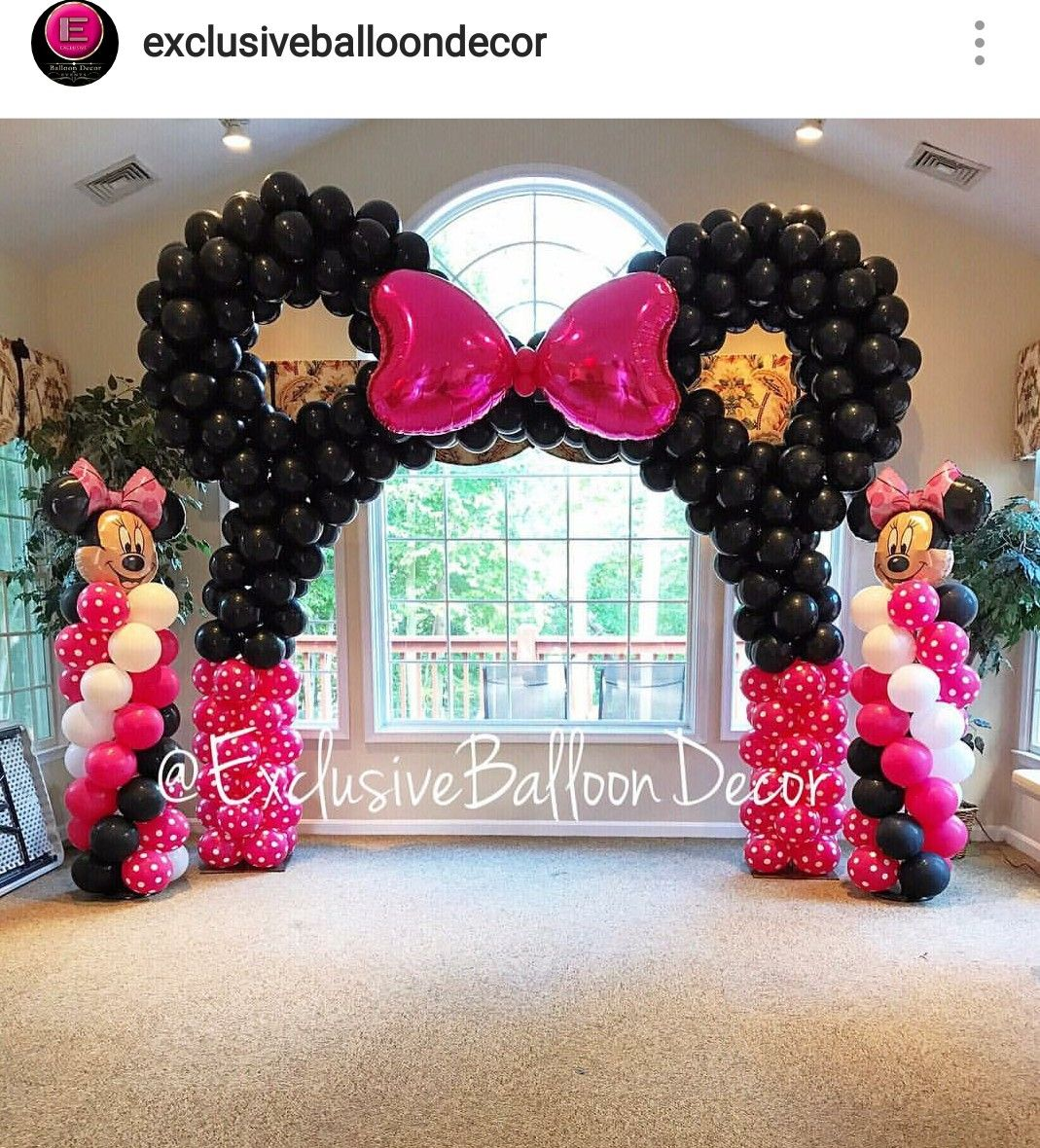 Minnie Mouse Custom Balloon Decor Minnie Mouse Birthday
