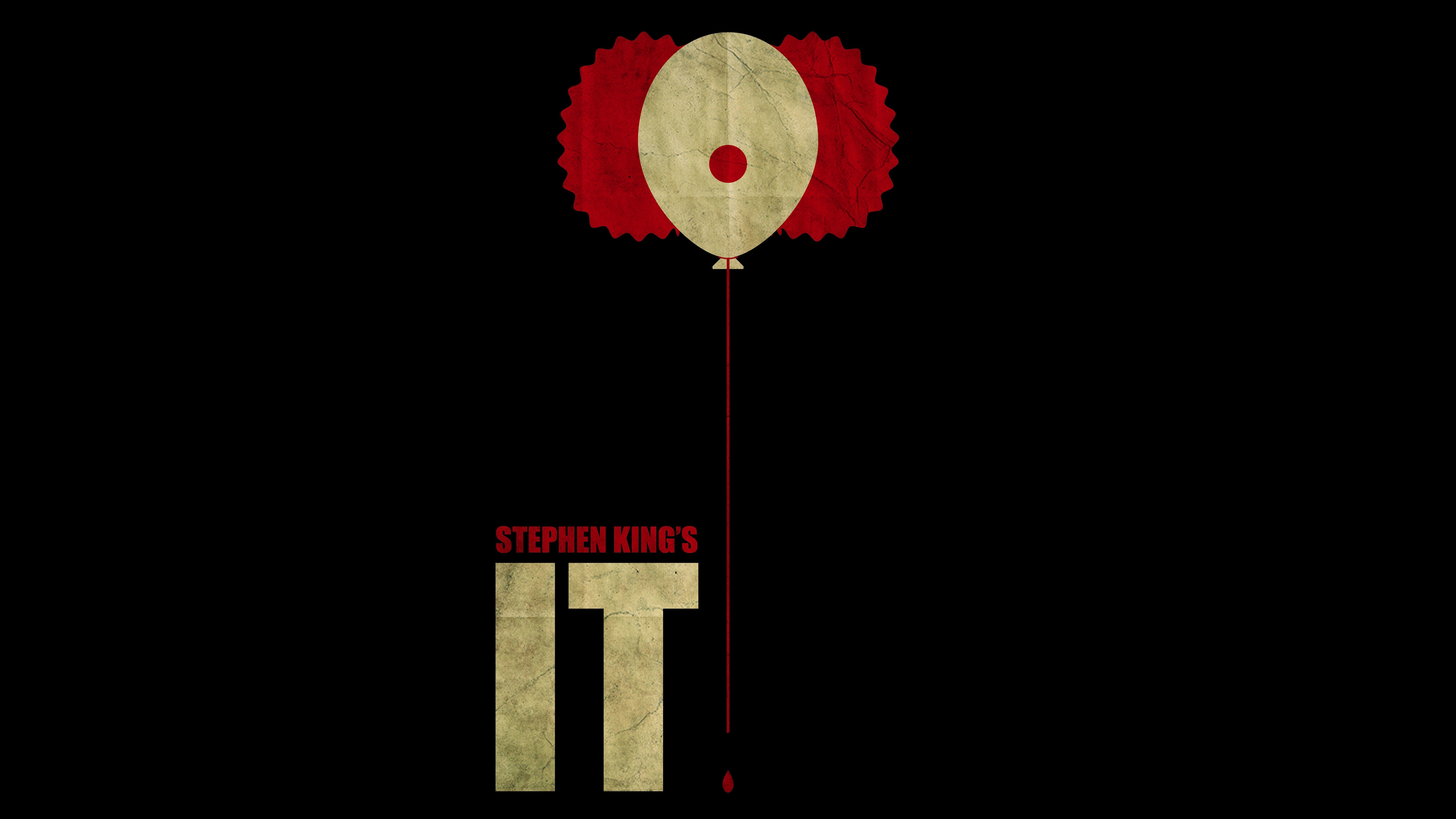 artwork, Movies, It (movie), Stephen King, Clowns, Minimalism