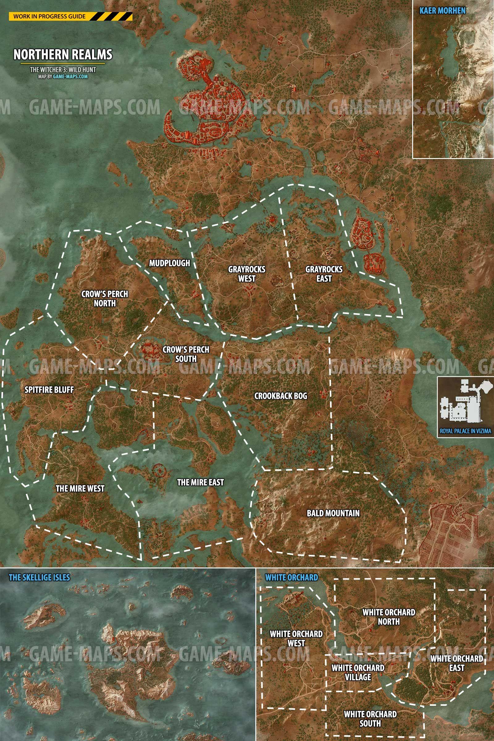 White Orchard Map : white, orchard, Witcher, World, White, Orchard,, Novigrad, (City),, Velen, Man's, Land,, Skellige, Isles,, Royal, Palace, Vi…, Velen,, Fantasy