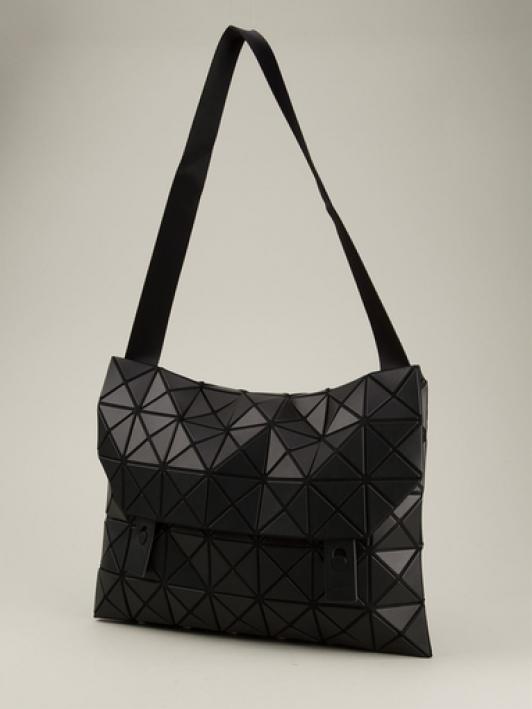 2101b2398e90 BAO BAO ISSEY MIYAKE Black Fold-Over Bag