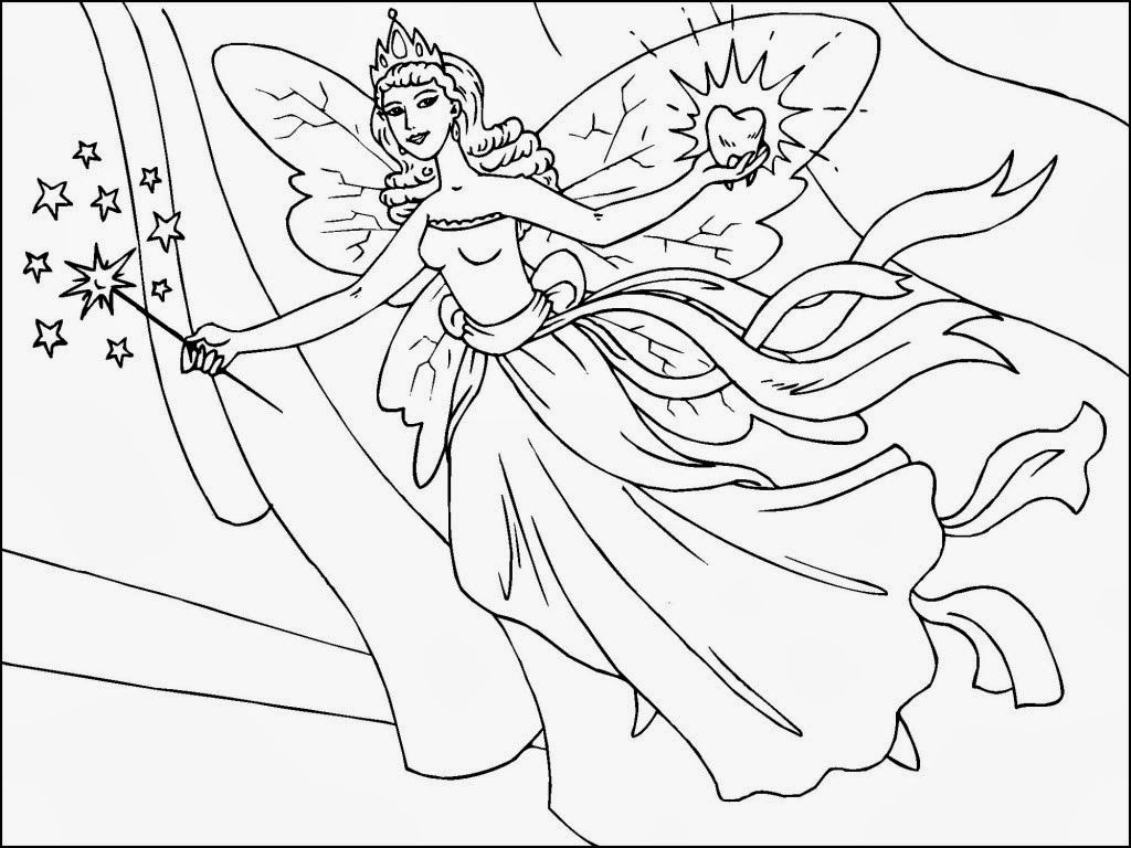free printable fairy coloring pages in pdf   Fairy coloring pages, Fairy  coloring, Princess coloring pages