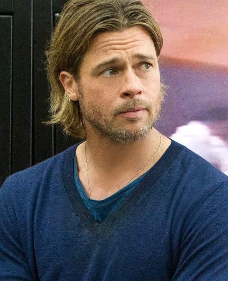 Bradpitt Brad Pitt Haircut Brad Pitt Long Hair Brad Pitt Beard