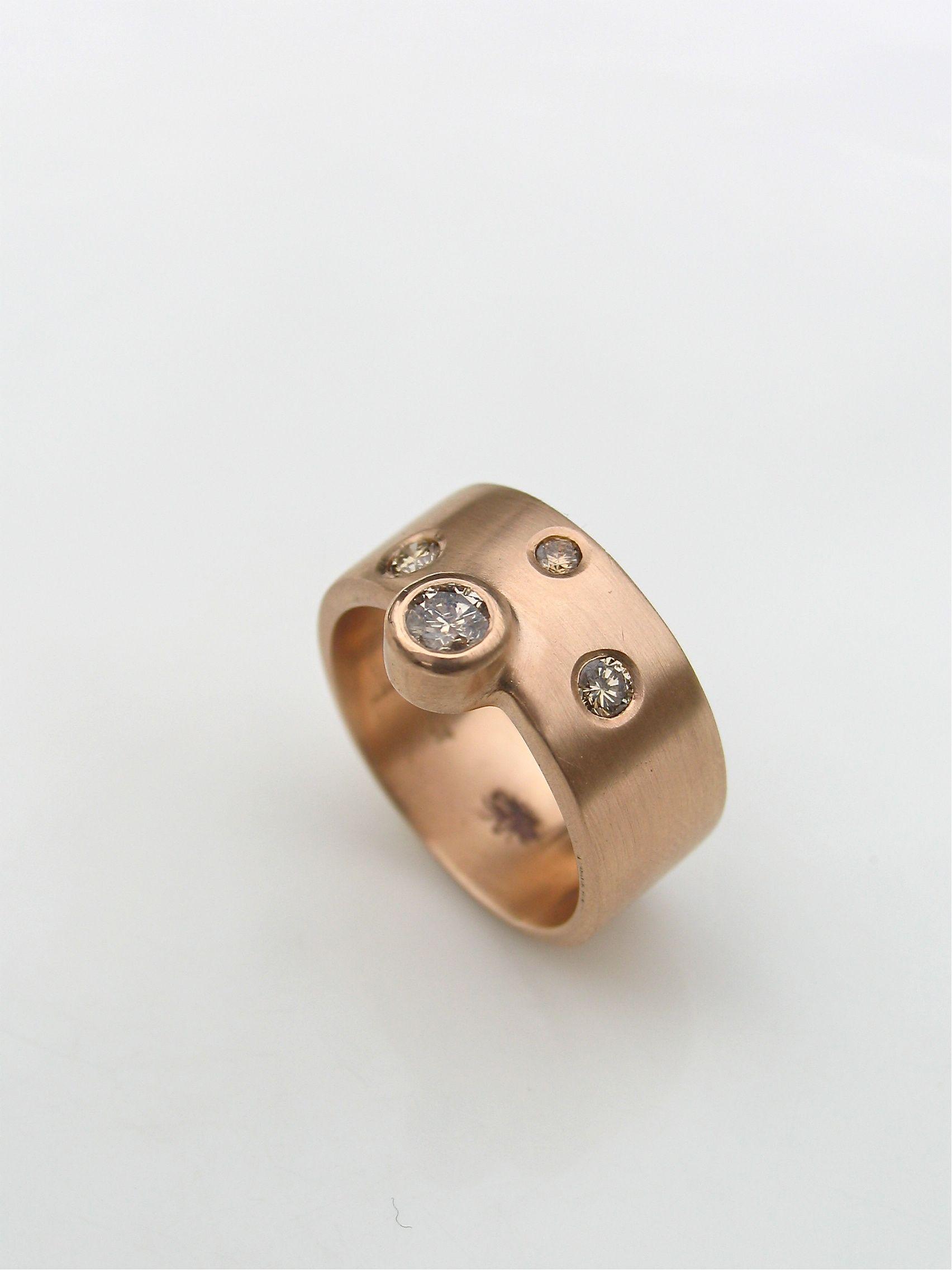 "rose gold diamond ""Southern Cross"" ring Cross jewelry"