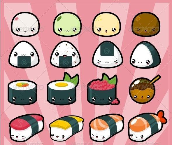 Kawaii Sushi Dessin Kawaii Food Kawaii Kawaii