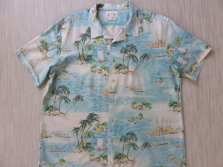 2XL Oahu Lew/'s Shirt Shack Mens Hawaiian Shirt HAWAIIAN RESERVE COLLECTION Aloha Surfer Shirt Tiki Tribal Surfboards Vintage 100/% Cotton