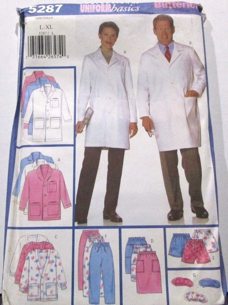 Details About Butterick Sewing Pattern 5287 Sizes L Xl Unisex