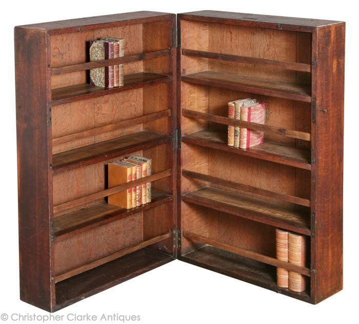 Oak Campaign Book Cabinet - late 19th century - Christopher Clarke Antiques
