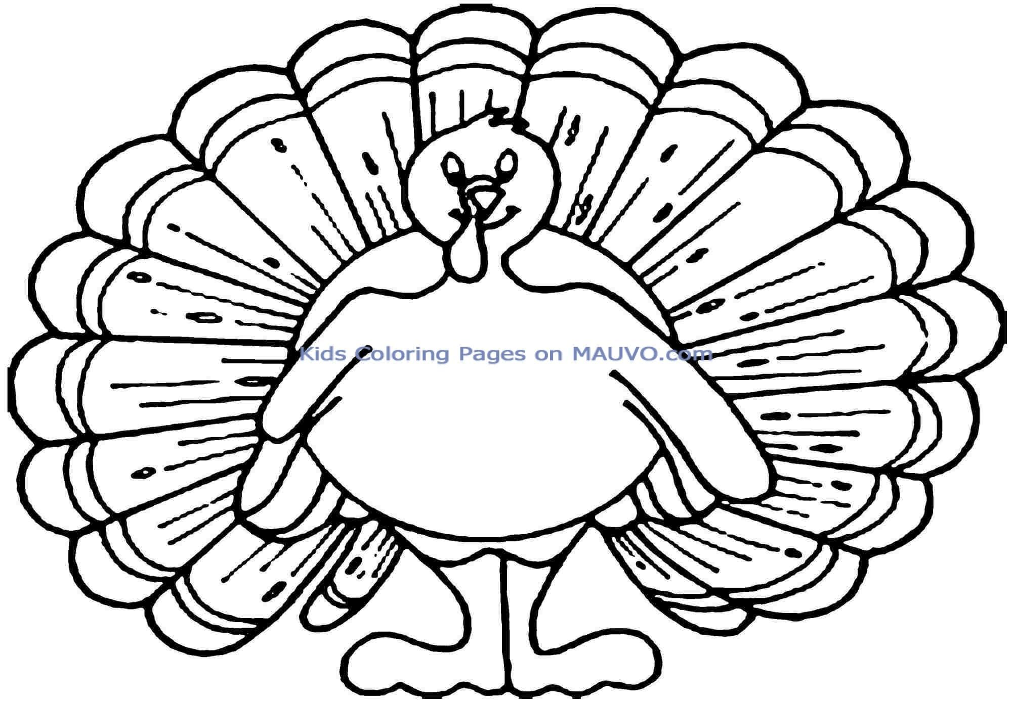 Printable Free Thanksgiving Turkey Colouring Pages Free