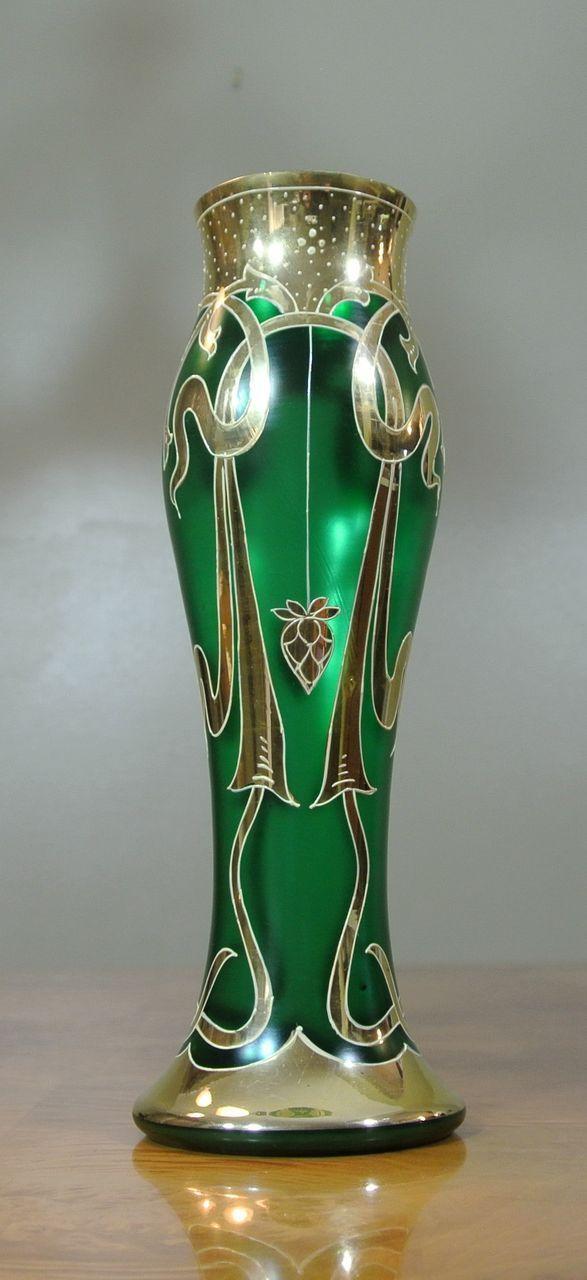 British Vintage Art Deco Glass Vase Art Glass