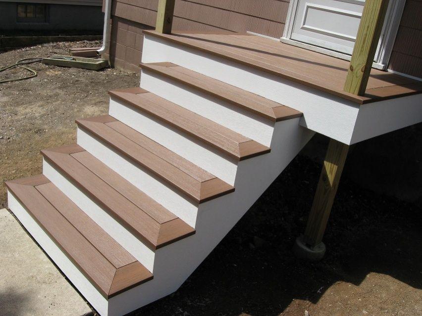 Cedar Deck Mitered Corners Wrap Around Steps Google Search | Pressure Treated Stair Treads | Wide | 3 Ft | Picture Frame | Glue Block | Deck