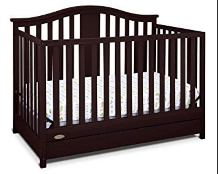Convertible Crib Espresso Graco Baby Crib with Storage Drawers ...