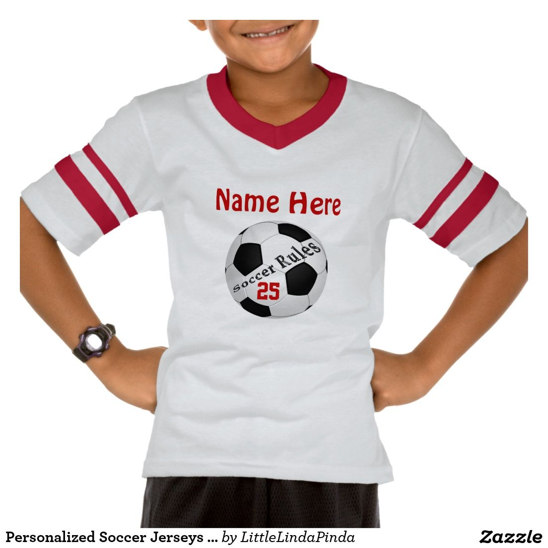 ef5edfbdc CUTE Personalized Boys Soccer Shirt with NAME  amp  NUMBER. Many styles