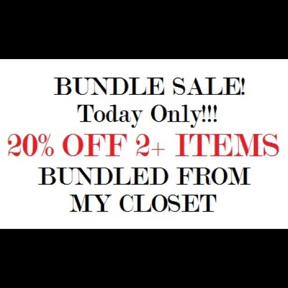 Bundle and Save!!! Today only, take advantage of 20% off a bundle of 2+ items from this closet!! Other