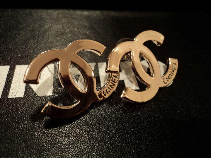 Chanel Inspired Large CC Gold Logo Earring  LuxorizeMe ...