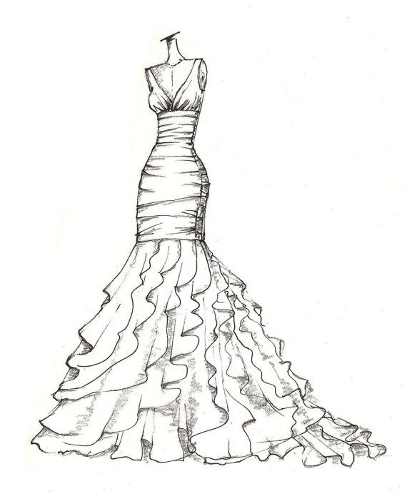 weddinng Vestido de ilustración  gran idea del regalo