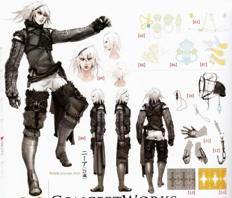 Nier from Nier: Replicant   Character design, Concept art, Character concept