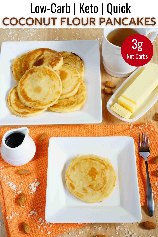 Coconut Flour Pancakes Coconut Flour Pancakes Almond Recipes Coconut Flour