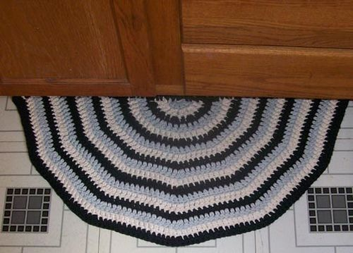 Semi Circular Kitchen Rug Crochet Rug Patterns Rug Pattern Crochet Rug Patterns Free