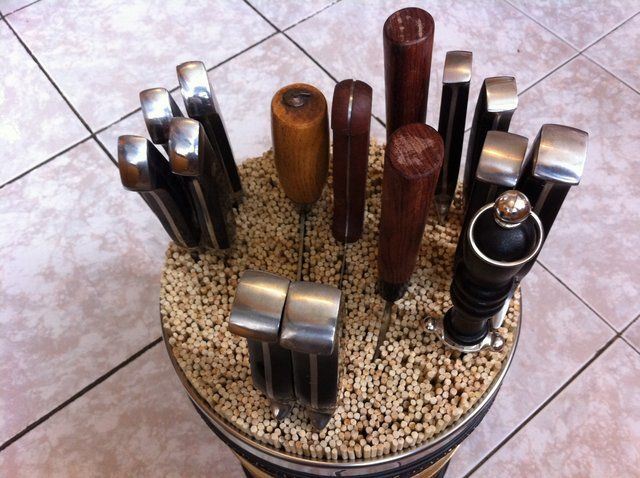 How To Make A Diy Universal Knife Block For Under 20 Diy Knife
