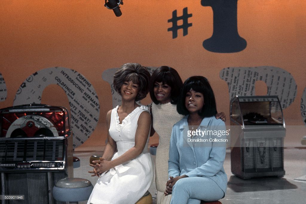 Singers, Mary Wilson, Florence Ballard and Diana Ross of the