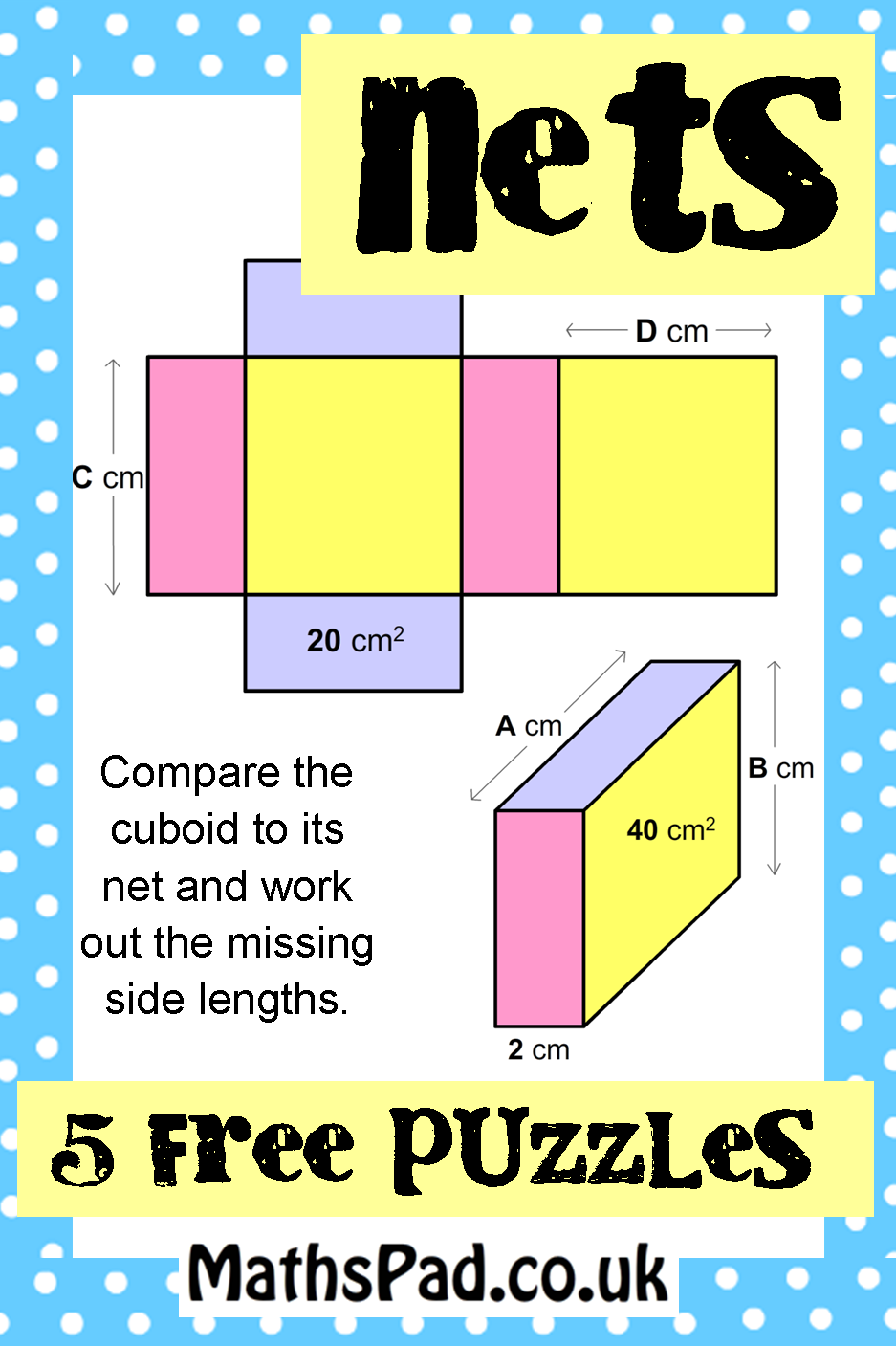 Compare The Cuboid To Its To Work Out The Missing Side Lengths And  Surface Areas