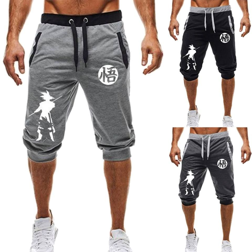 Men's jogger shorts dragon ball goku in 2020 | Mens joggers