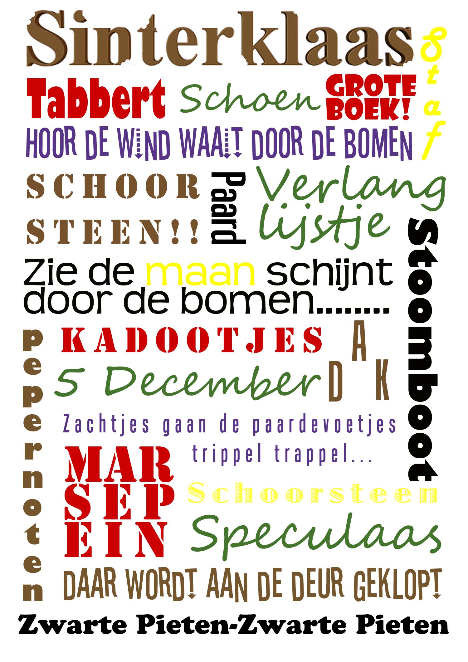 Mooi Kleurplaat Sinterklaas En De Pepernoten Chaos