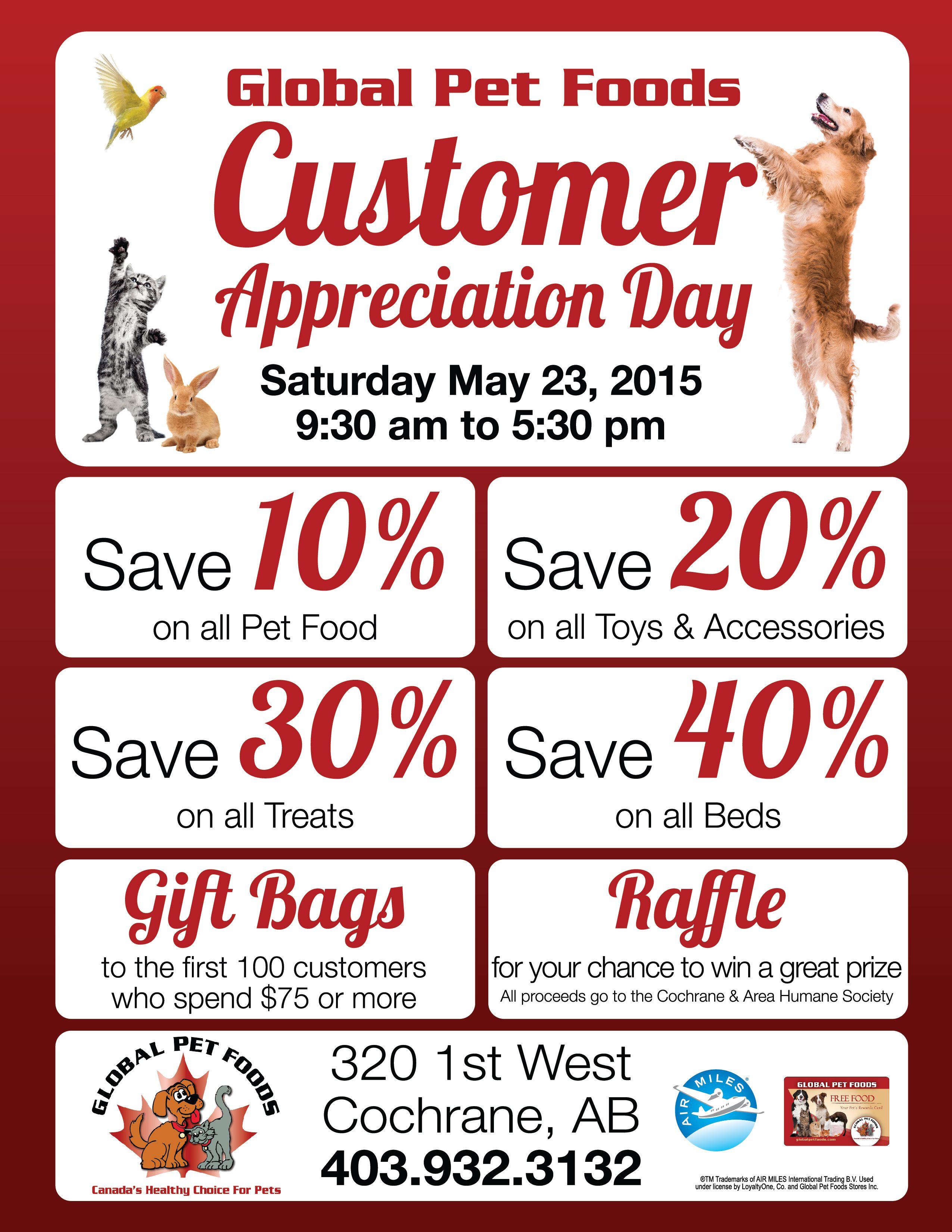The Global Pet Foods Store In Cochrane Alberta Is Celebrating