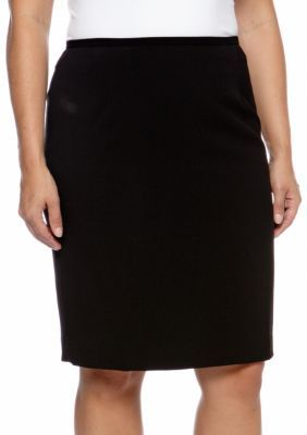 3c9c47baf15e0 Calvin Klein Black Plus Size Pencil Skirt