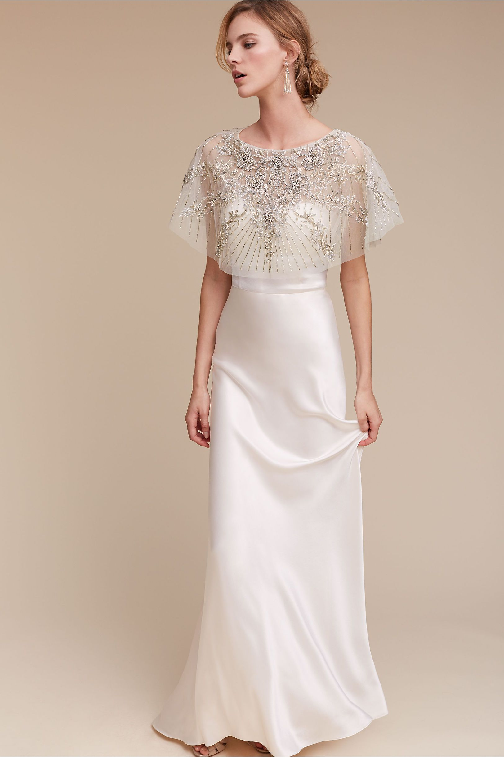 BHLDN Gina Gown in Bride Wedding Dresses Sheath | BHLDN | The Big W ...
