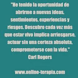 Terapia centrada en la persona #CarlRogers #Frases #CrecimientoPersonal