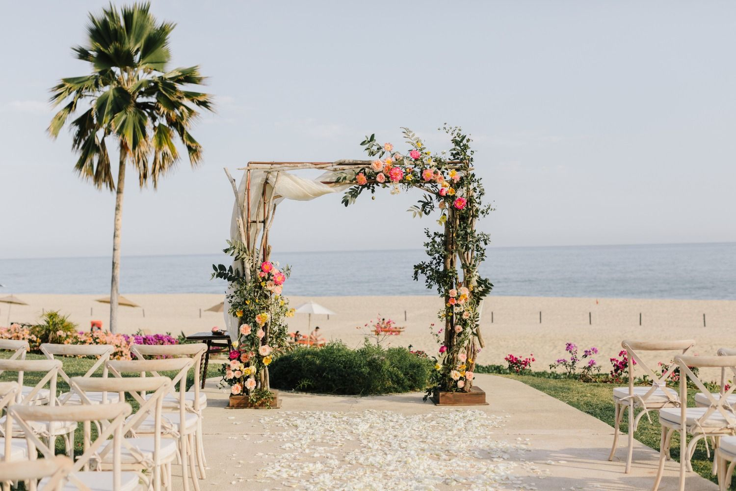 What Your Blush And White Wedding Could Look Like In Mexico With