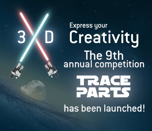 #Competition! Launch of the ninth TraceParts competition in partnership with @Protolabs Reproduce a 3D character, spaceship or other cult object related to a sci-fi movie and try to win the Star Wars BB-8 Sphero Droid