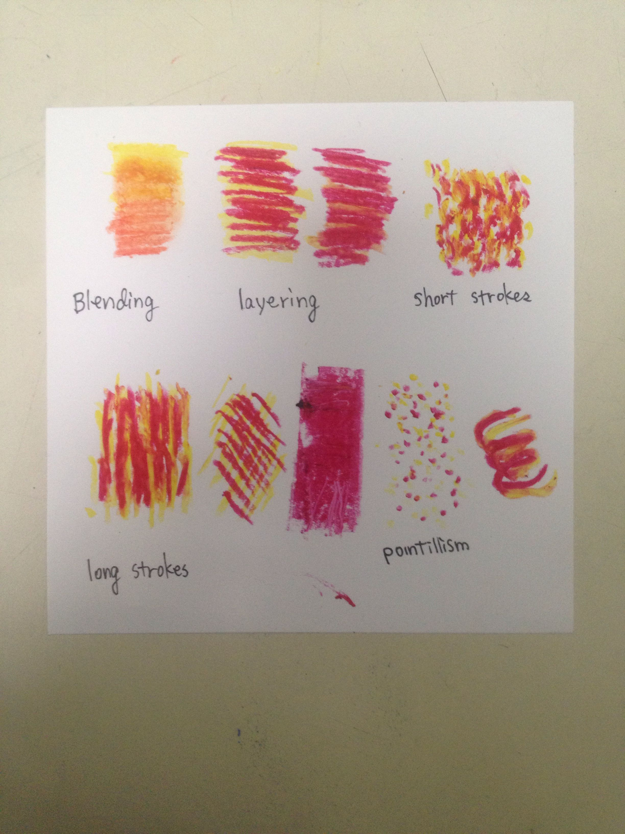 Mar 3 Oil Pastel Practice