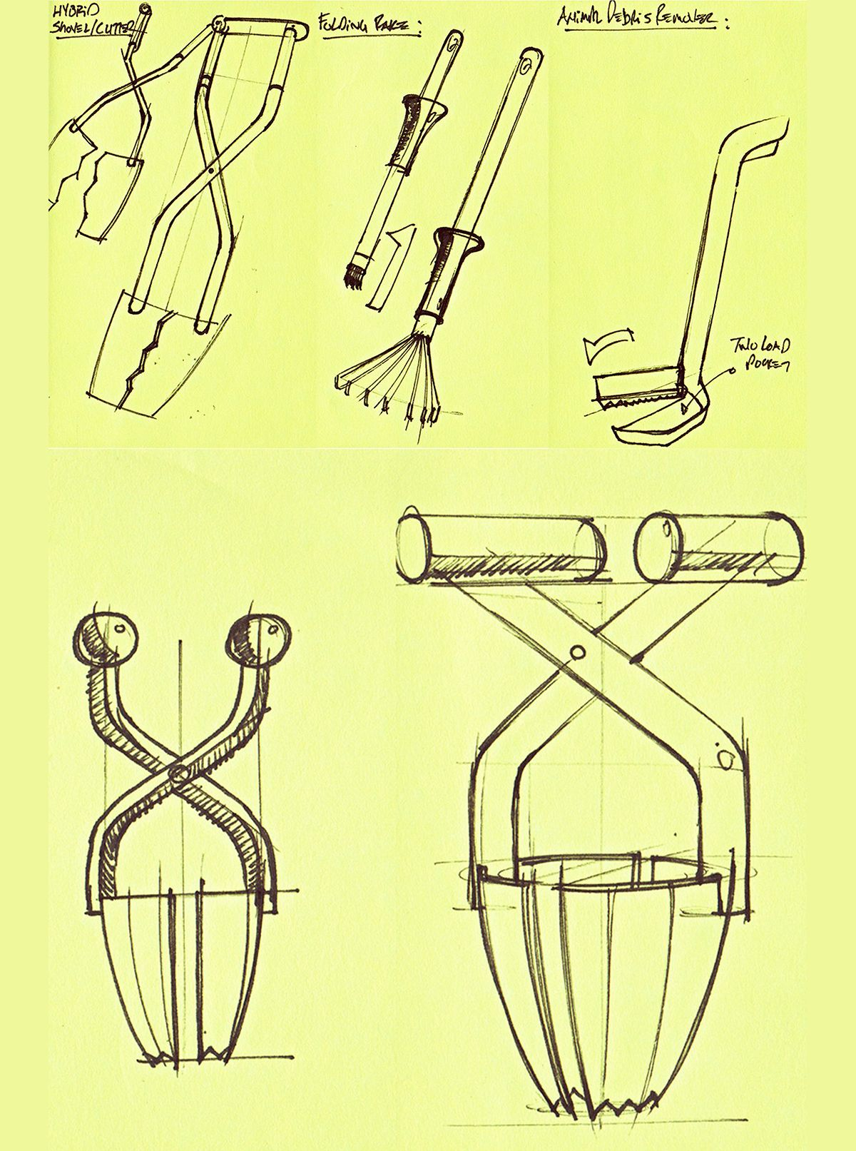 Ideation Sketches For Garden Tools. James Owen Design + Fiskars #design  #industrialdesign #