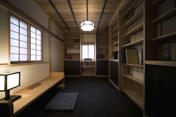 和風モダンな書斎 和風インテリア 和モダン住宅の家具画像 参考写真