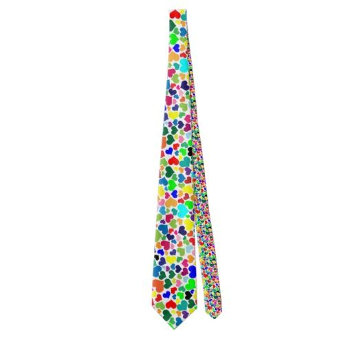 valentine rainbow hearts menswear mens neck tie