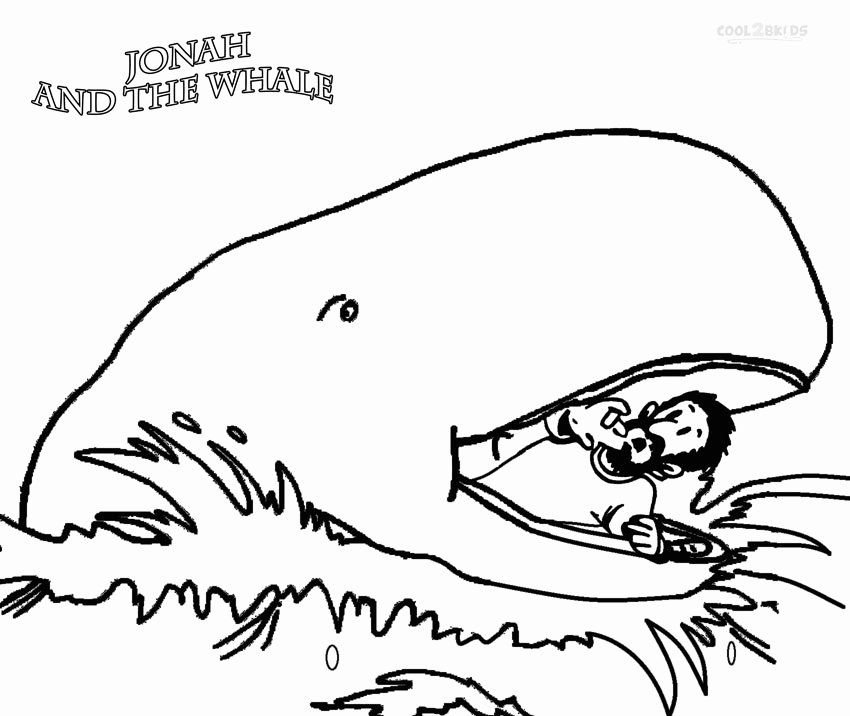 32 Jonah And The Whale Coloring Page In 2020 Jonah And The