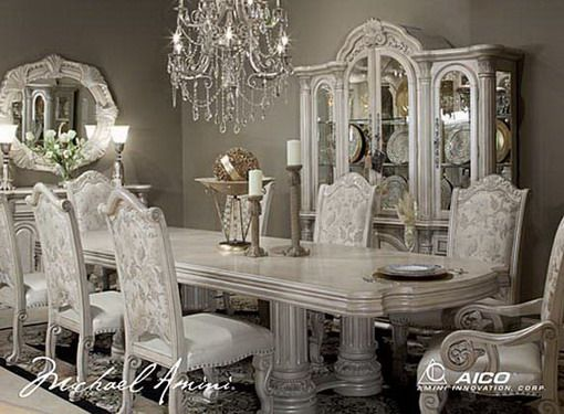 White Dining Table And Chairs In Classic Styles