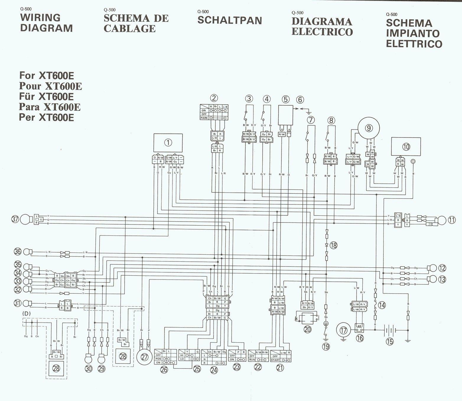 Ot 2549 Yamaha Xt 600 Wiring Diagram Big Bear Yamaha Diagram